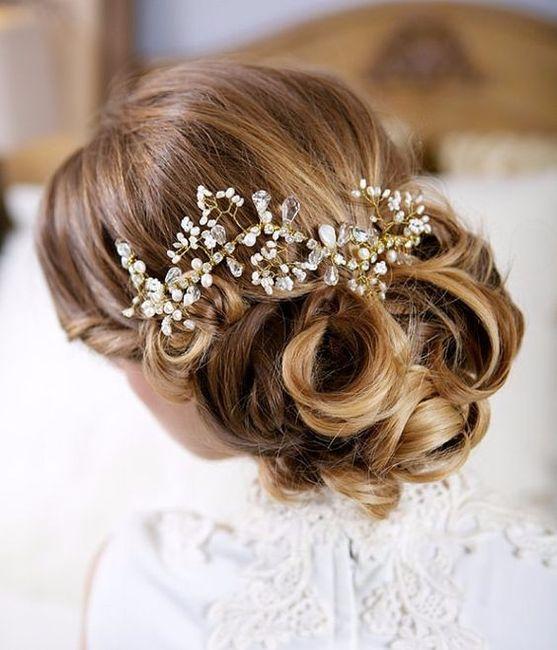 Imagenes peinados de novia 2017