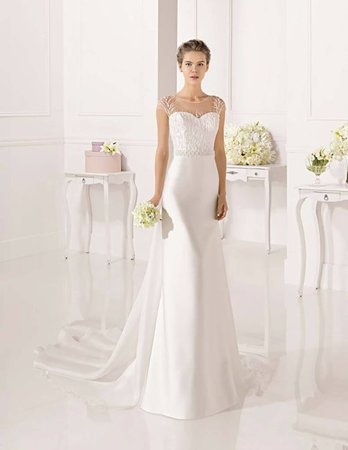 vestido de novia corte recto. ¿cuál te gusta?
