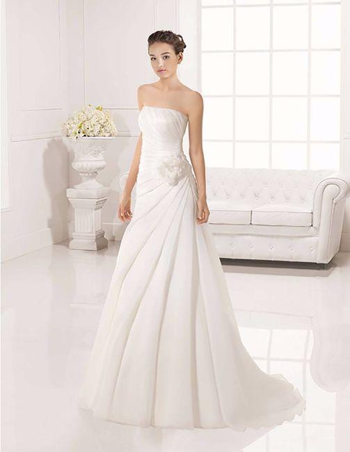 Vestido novia corte evase