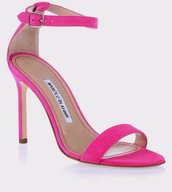 zapatos de novia fucsia