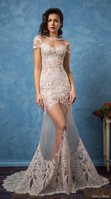 Vestido de novia coqueto y atrevido. ¿Lo usarías?