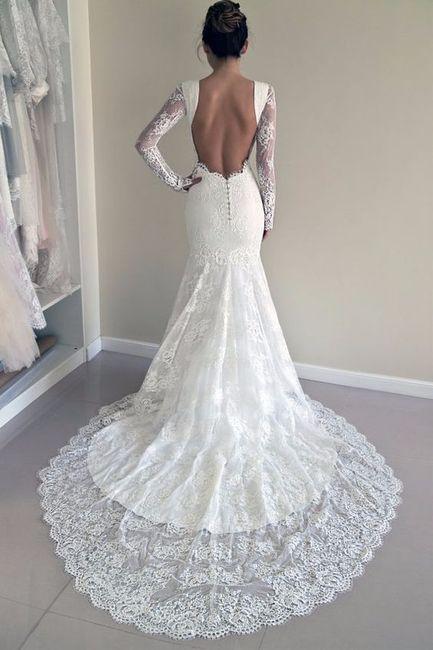 colas con encaje para tu vestido de novia sirena