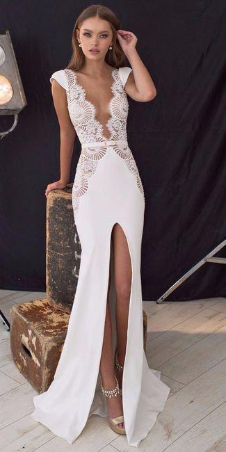 mi lado de novia atrevido con este vestido