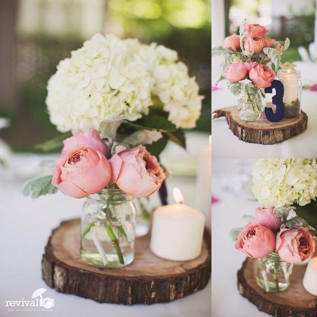 Centros de mesa Altos o bajos para tu boda