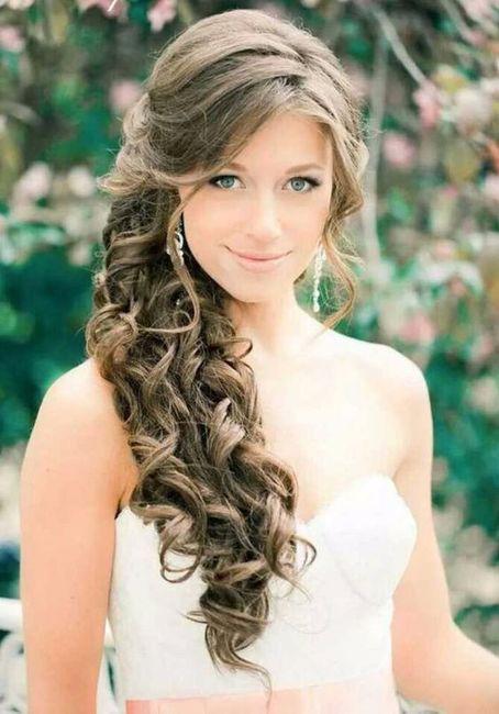 Peinados novia lado