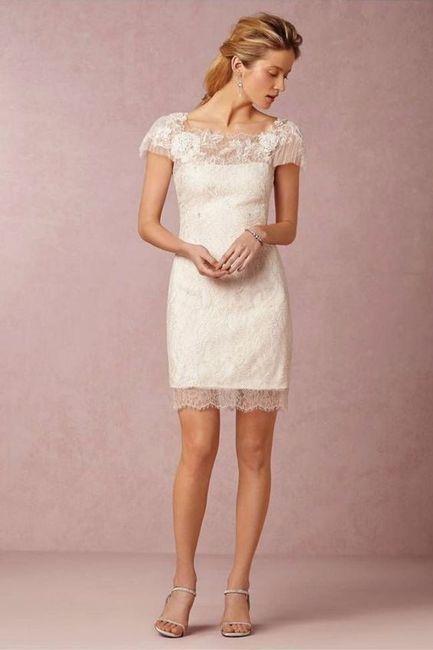 539422c10e Vestido de novia corto y cómodo ...
