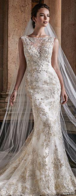 Vestidos de novia de sirena con pedreria