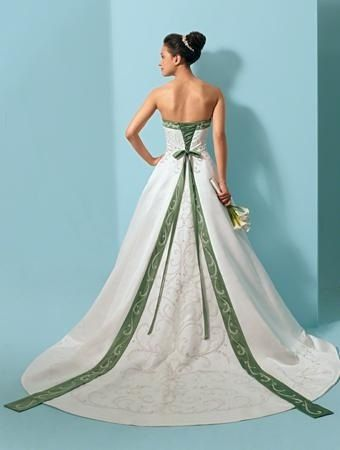 vestido de novia verde