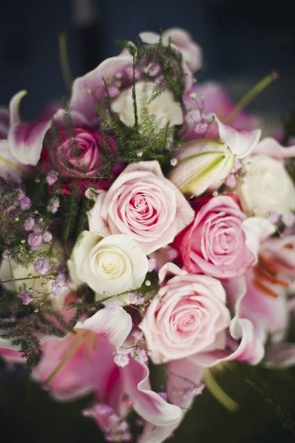 bouquet de novia romántico