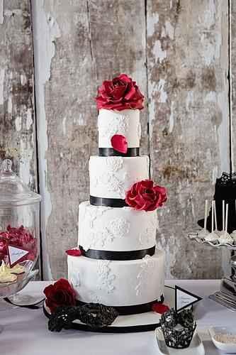 torta de matrimonio redonda