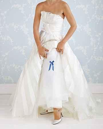 algo azul para novia