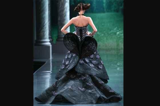 vestido novia negro