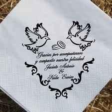 servilletas para matrimonio