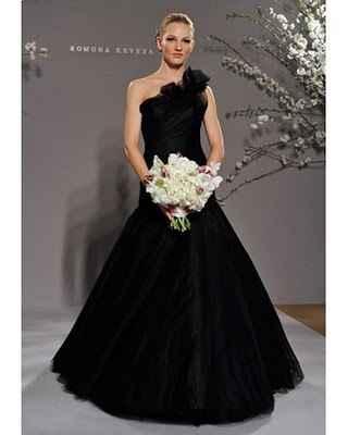 vestido de novia negro