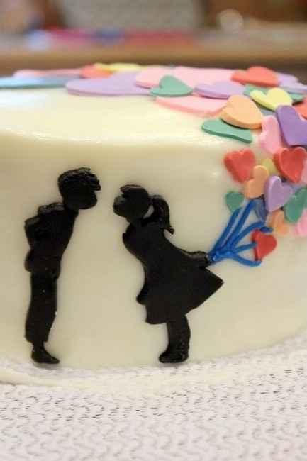 torta de boda romántica