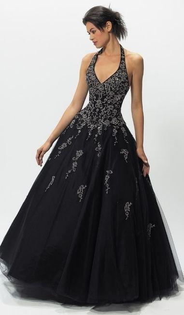 Se animarian a usar un vestido de novia en negro?
