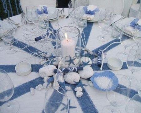 matrimonio en azul y blanco