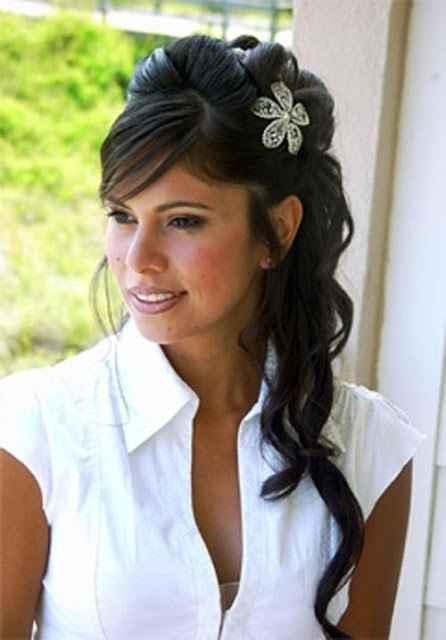 peinado de novia con cerquillo