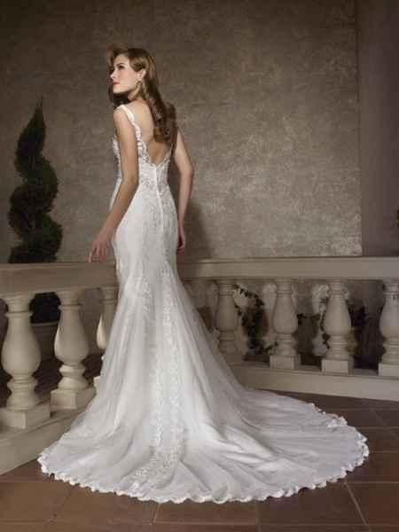 vestido novia corte sirena