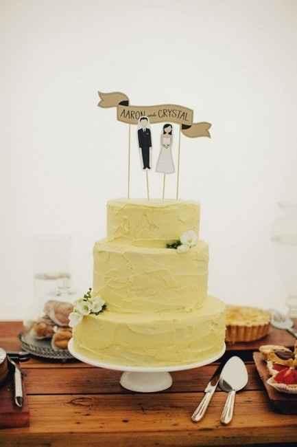 torta de matrimonio amarillo