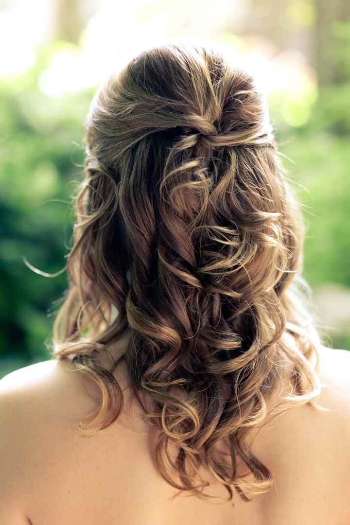 peinado romántico y natural