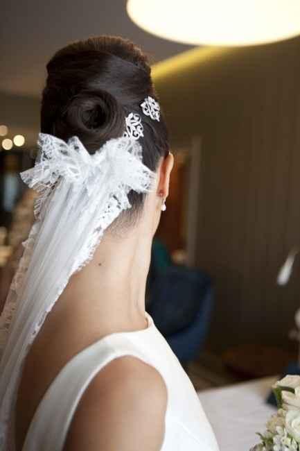 peinado con velo de novia