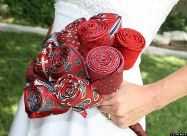 ramo de novia de corbatas