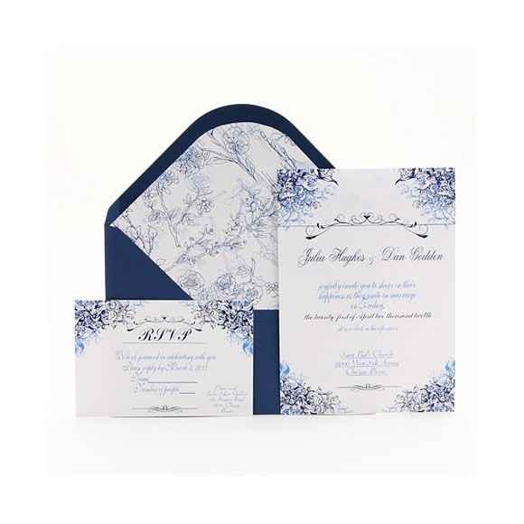 invitación de boda invierno