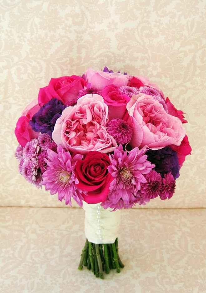 bouquet de novia colores intensos