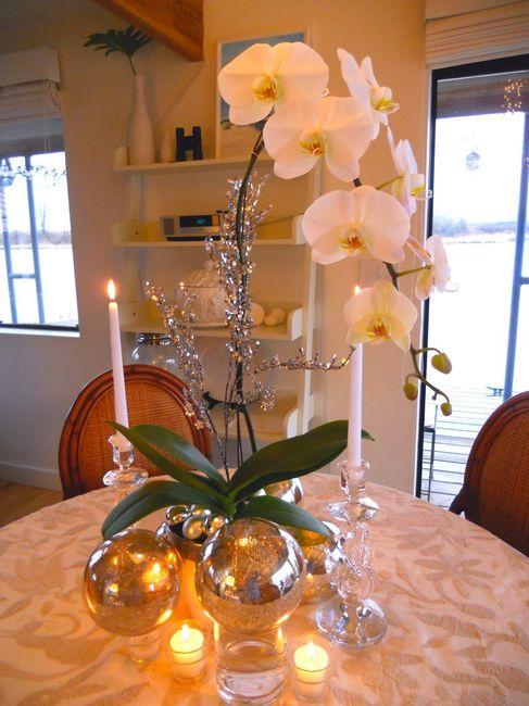 centro de mesa con orquideas