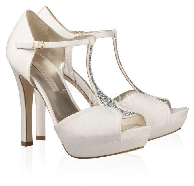 zapatos de novia tacon alto