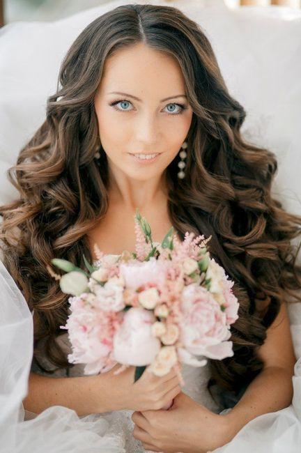 peinado de novia suelto y ondulado