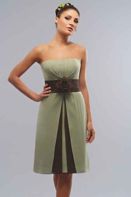 vestido corto para shower de novia