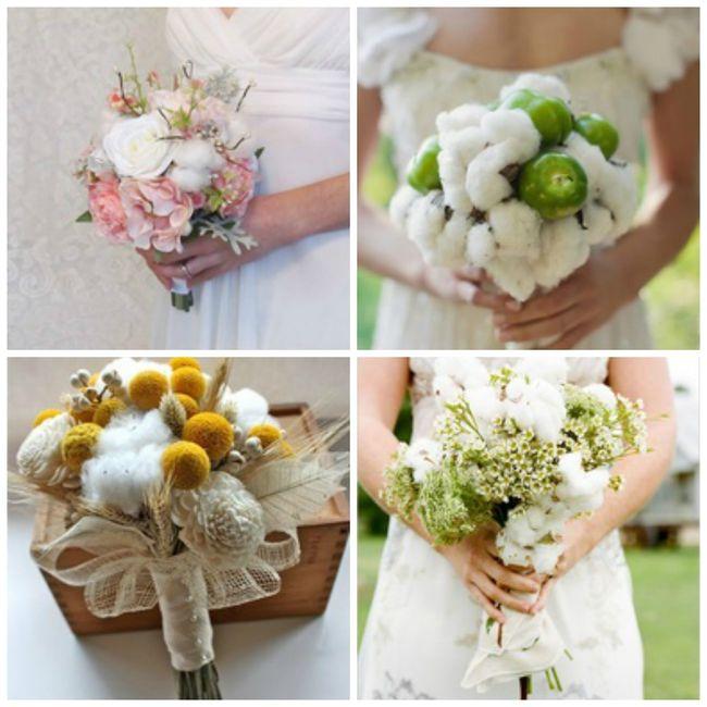 ramo de novia de algodon