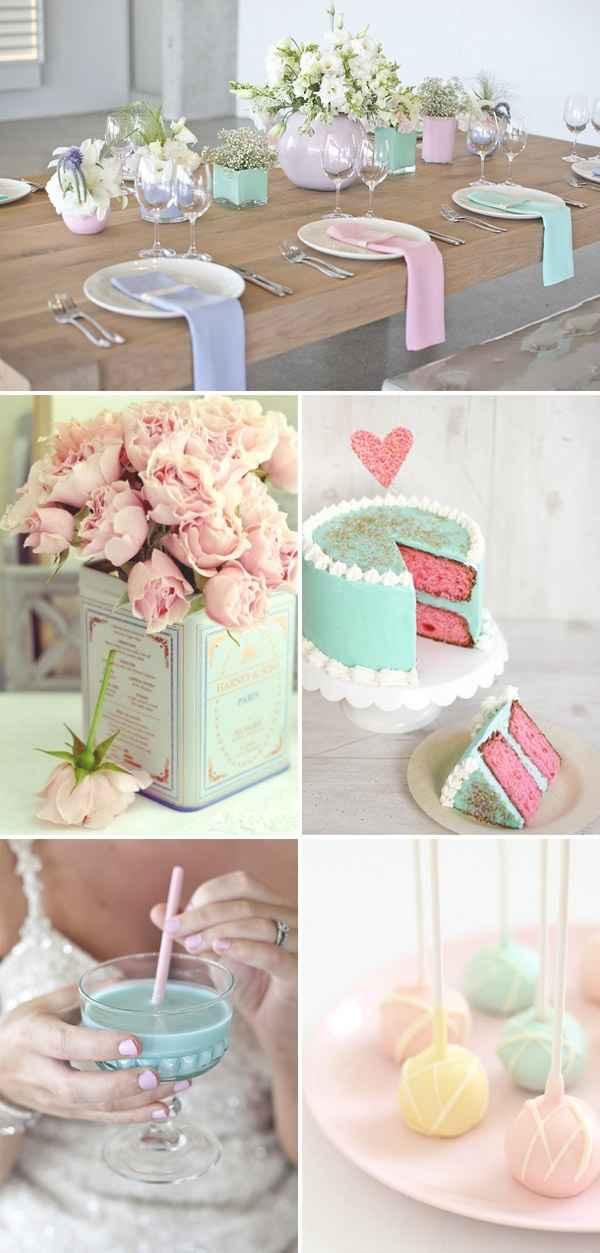 matrimonio colores pastel
