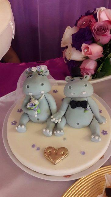 Mi hermosos Toppers de hipopótamos hechos por Dulce Maná