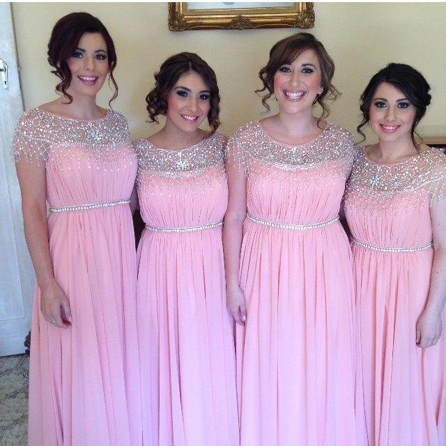 Vestidos para damas de honor rosa pastel
