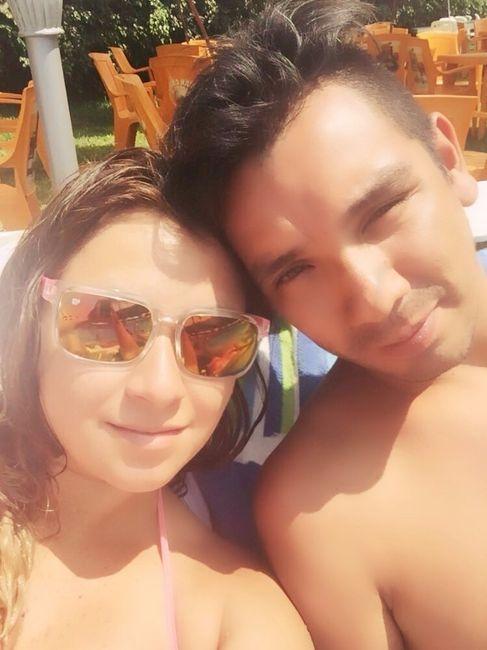 Con mi amor, disfrutando de un dia de Sol!
