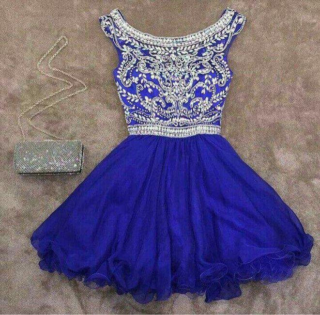 Vestidos en tono azul!