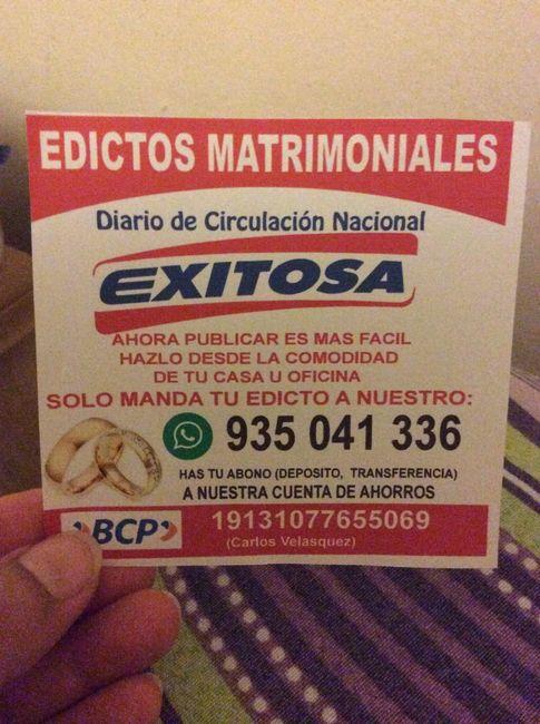 Publicación de Edictos Matrimoniales! - 1