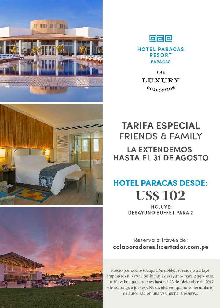 Estadia en Paracas Luxury collection para setiembre - 1