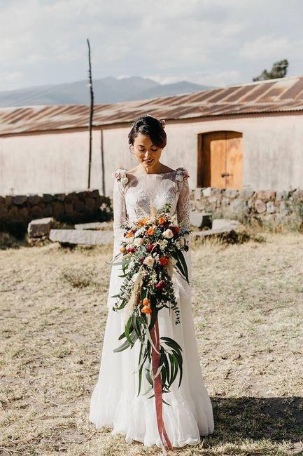 vestido boda civil - flores ♥ 8
