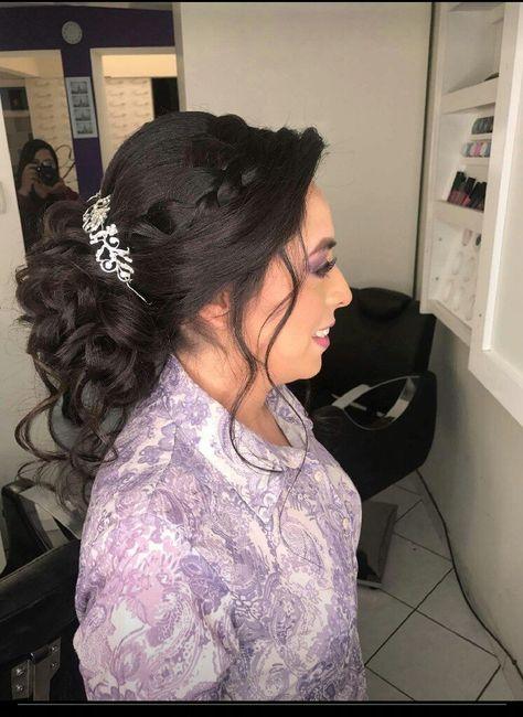 Mi peinado y maquillaje novia 1
