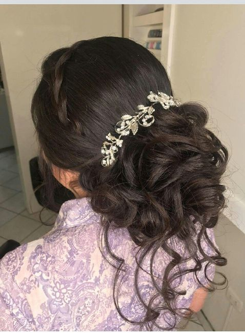 Mi peinado y maquillaje novia 2