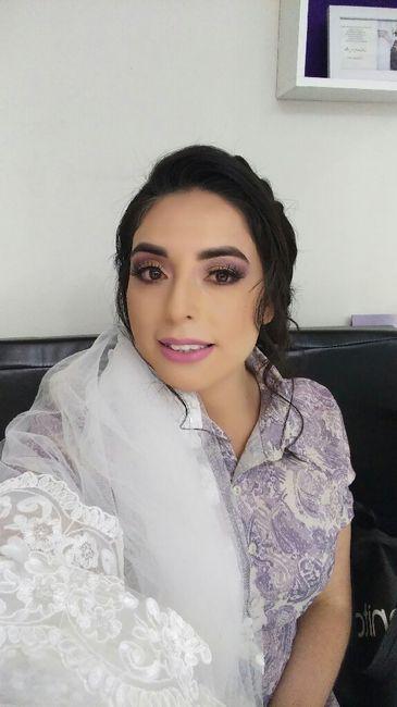 Mi peinado y maquillaje novia 4