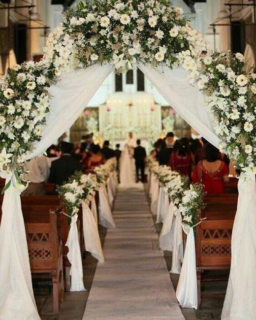 decoraciones para la boda religiosa.