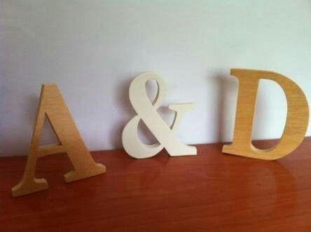Letras de madera - Ideas para decorar letras de madera ...