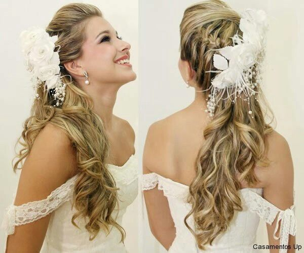 Peinados para novia con cabello largo