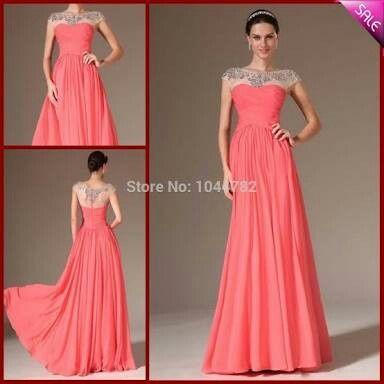 Vestido coral corto para boda