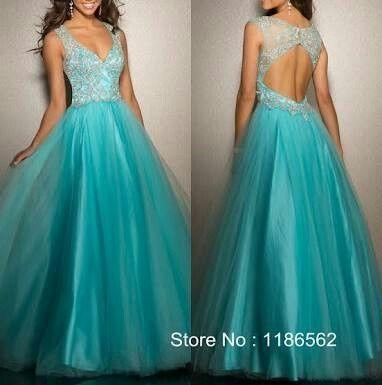90027bd20 Vestidos largos azul turquesa - 2